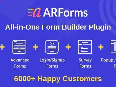 ARFORMS – WORDPRESS FORM BUILDER PLUGIN - Gpl Pulse