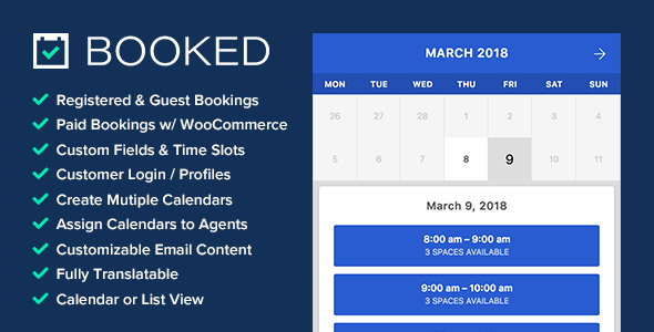 Booked Appointments – Appointment Booking for WordPress - Gpl