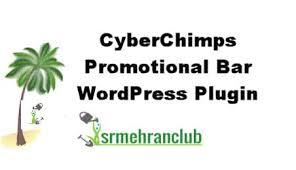 CYBERCHIMPS PROMOTIONAL BAR WORDPRESS PLUGIN