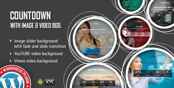 CountDown With Image or Video Background WordPress Plugin