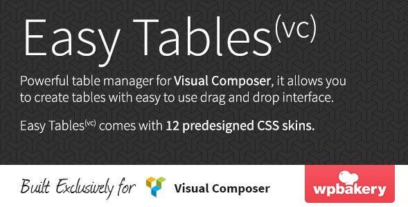 Easy Tables – Table Manager for Visual Composer - Gpl Pulse