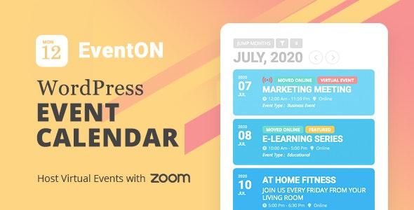 EventOn – WordPress Event Calendar Plugin - Gpl Pulse