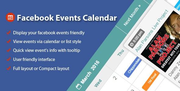 Facebook Events Calendar WordPress Plugin - Gpl Pulse