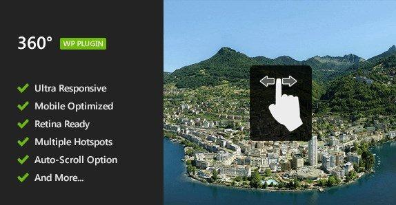 Flat 360° Panoramic Viewer – WordPress Plugin - Gpl Pulse
