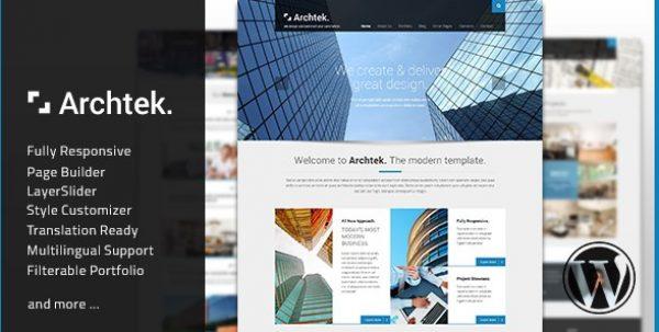 Archtek – Responsive Modern WordPress Theme - Gpl Pulse