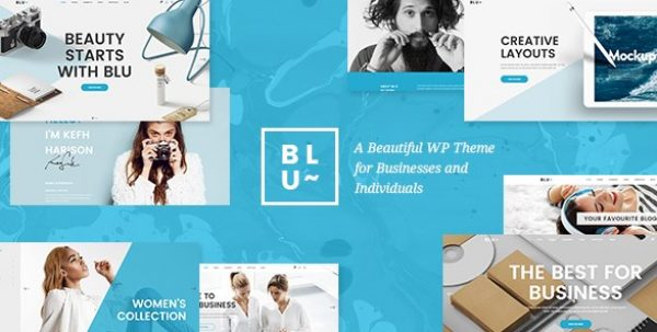 Blu – A Beautiful Theme for Businesses and Individuals - Gpl Pulse