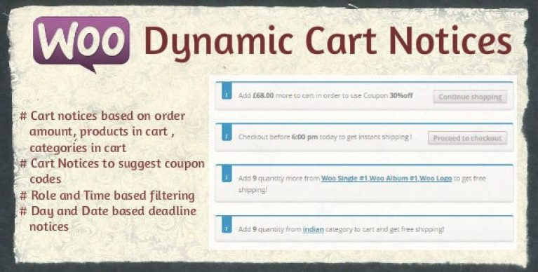 Woocommerce Dynamic Cart Notices - Gpl Pulse