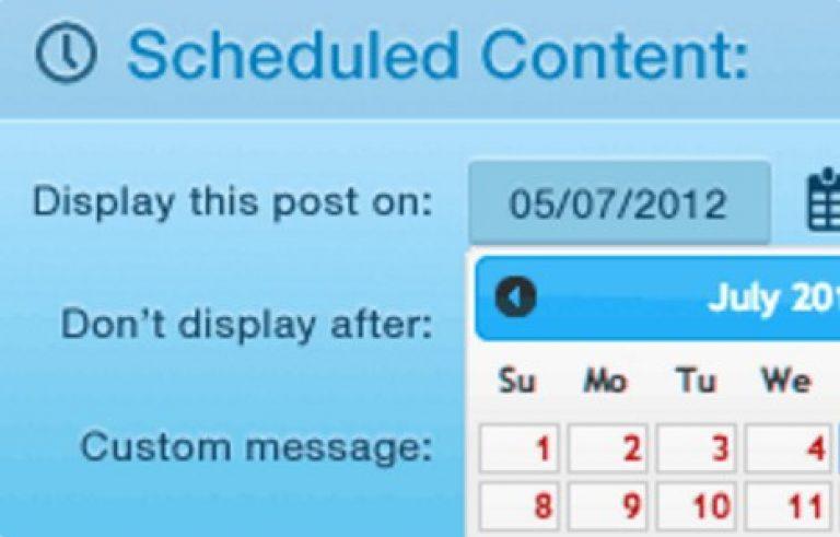 WPMU DEV Schedule Selected Content - Gpl Pulse