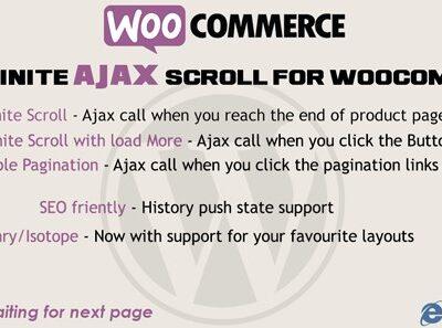 Infinite Ajax Scroll Woocommerce - Gpl Pulse