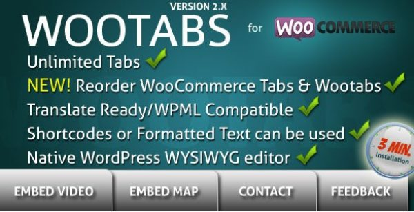 WooTabs – Add Extra Tabs To WooCommerce Product Page - Gpl Pulse