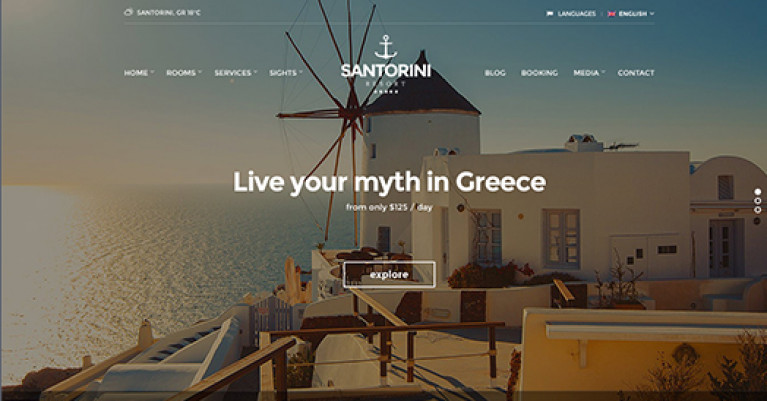 CSS Igniter Santorini Resort WordPress Theme - Gpl Pulse
