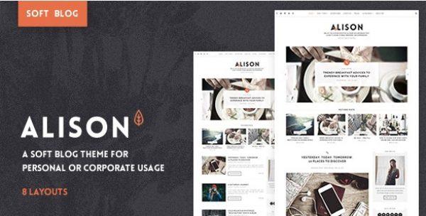 Anne Alison – Soft Personal Blog Theme - Gpl Pulse