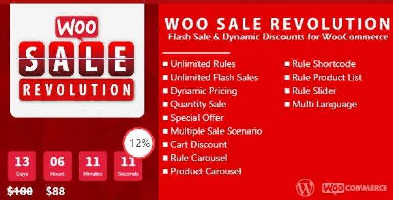 Woo Sale Revolution – Flash Sale Dynamic Discounts - GPl Pulse