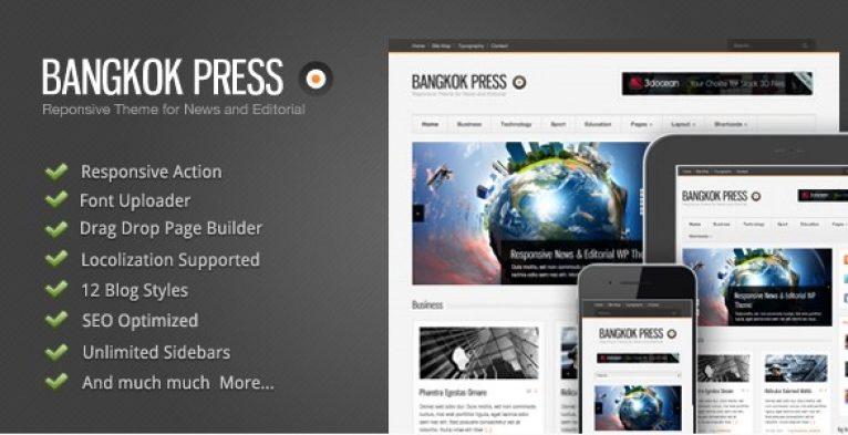 Bangkok Press – Responsive News & Editorial Theme - gpl pulse