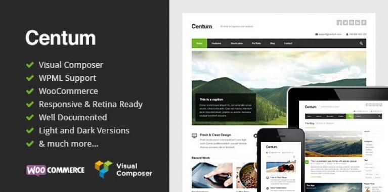 Centum – Responsive WordPress Theme - Gpl Pulse