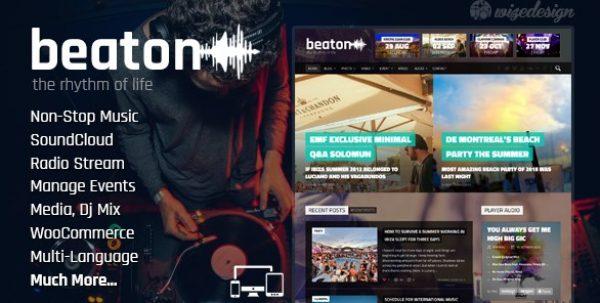 Beaton – Music Radio & Events WordPress Theme - Gpl Pulse