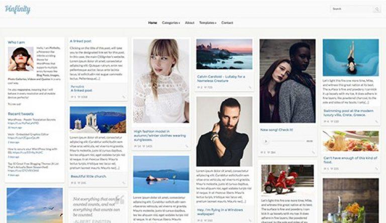 CSS Igniter Pinfinity WordPress Theme - Gpl Pulse