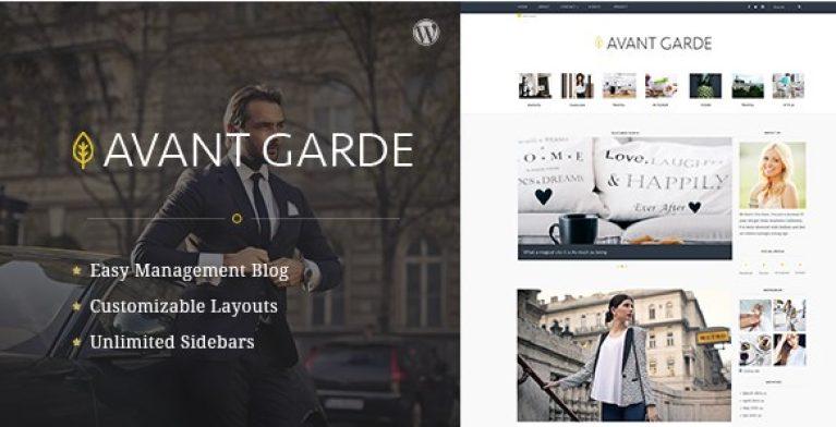 AvantGarde WordPress Blog Theme - gpl pulse