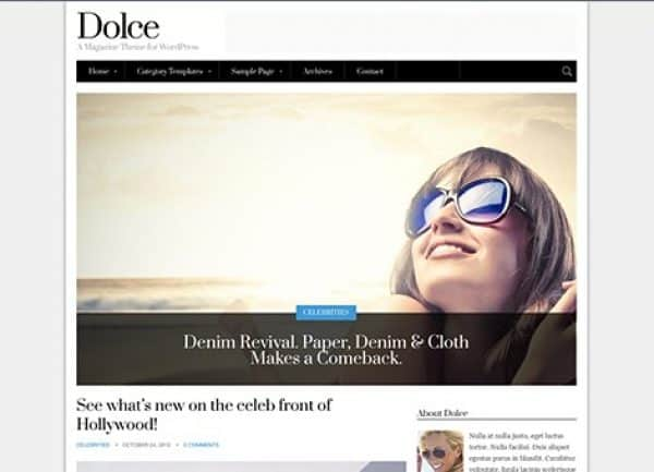 CSS Igniter Dolce WordPress Theme - Gpl Pulse