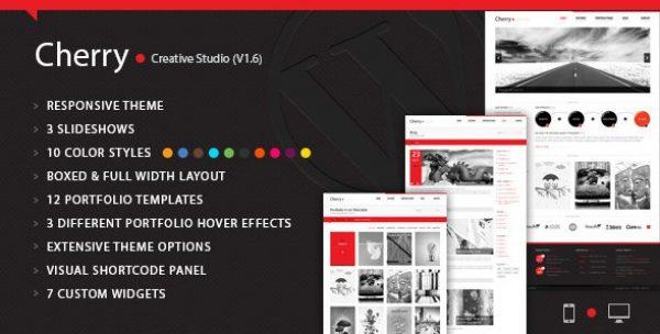 Cherry Portfolio WordPress Theme - Gpl Pulse