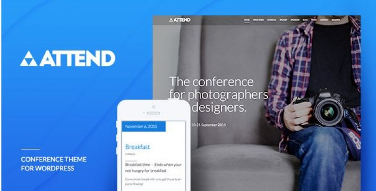 Conference & Event WordPress Theme – Attend - Gpl Pulse