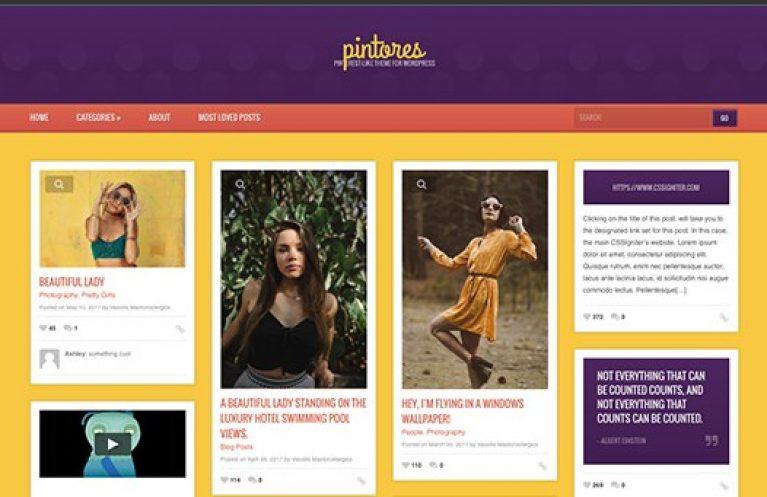 CSS Igniter Pintores WordPress Theme - Gpl Pulse