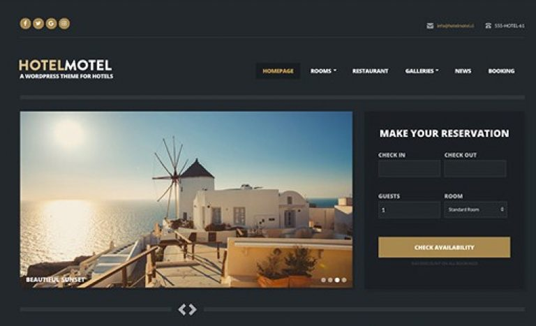 CSS Igniter HotelMotel WordPress Theme - Gpl Pulse