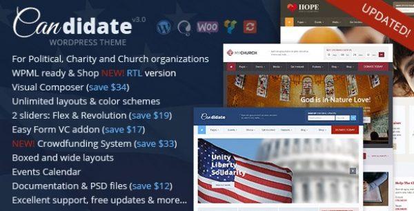 Candidate – Political Nonprofit Church WordPress Theme - Gpl Pulse