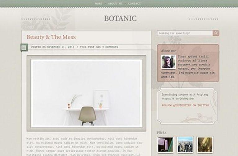 CSS Igniter Botanic WordPress Theme - Gpl Pulse