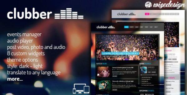 Clubber – Events & Music WordPress Theme - Gpl Pulse