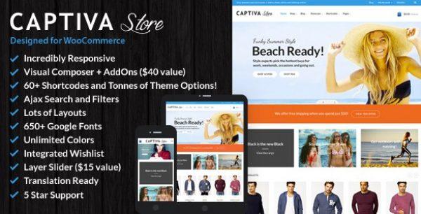 Captiva – Responsive WordPress WooCommerce Theme - Gpl Pulse