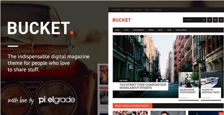 BUCKET – A Digital Magazine Style WordPress Theme - Gpl Pulse