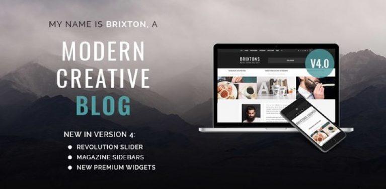 Brixton – WordPress Blog Theme - Gpl Pulse