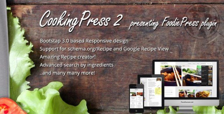CookingPress – Recipe & Food WordPress Theme - Gpl Pulse