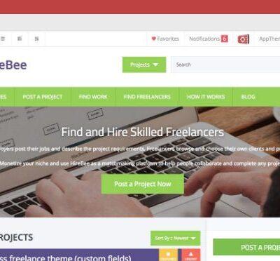 AppThemes Hirebee WordPress Themes - Gpl Pulse