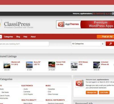 AppThemes ClassiPress WordPress Themes - Gpl Pulse