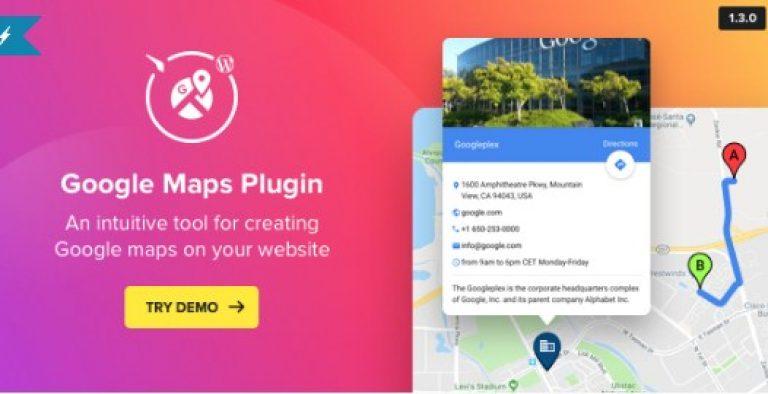 WP Google Maps – Map Plugin for WordPress - Gpl Pulse