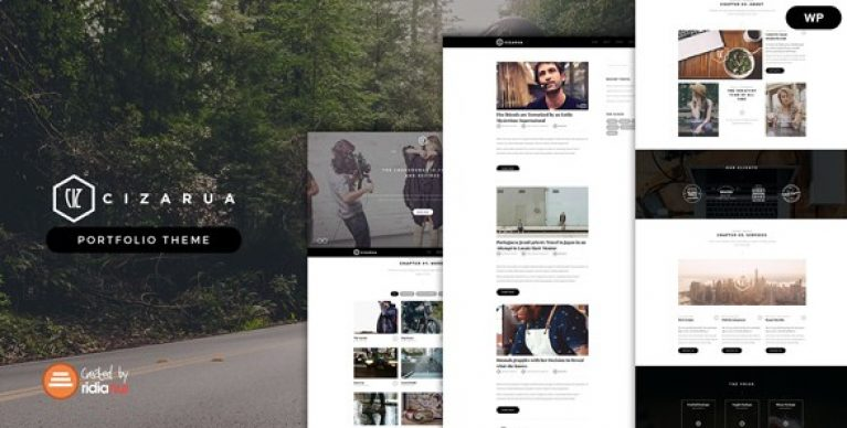 Cizarua – Responsive One Page Portfolio Theme - Gpl Pulse