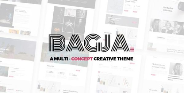 Bagja – Responsive Multi Concept & One Page Portfolio Theme - Gpl Pulse