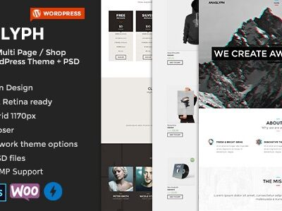 ANAGLYPH – One page / Multi Page WordPress Theme - Gpl Pulse