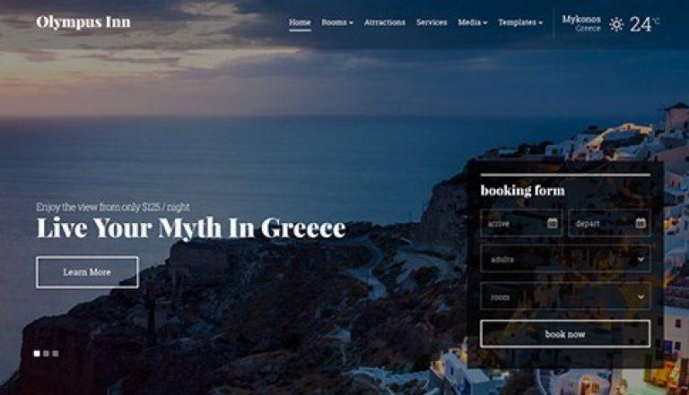CSS Igniter Olympus Inn WordPress Theme - Gpl Pulse