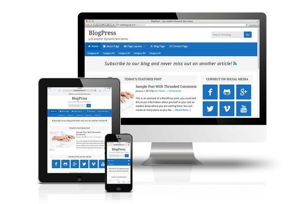 CobaltApps BlogPress Skin for Dynamik Website Builder - Gpl Pulse