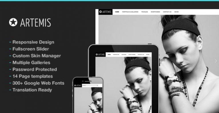 Artemis Photography Gallery Portfolio Theme - Gpl Pulse