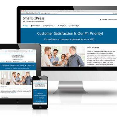 CobaltApps SmallBizPress Skin for Dynamik Website Builder - Gpl Pulse
