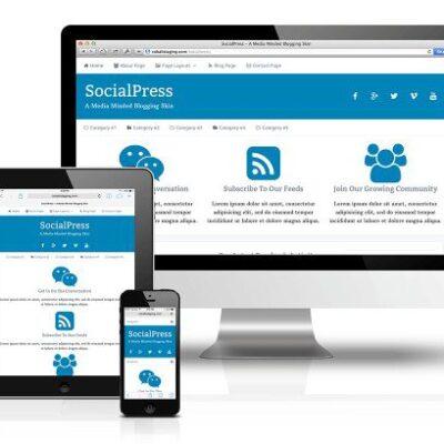 CobaltApps SocialPress Skin for Dynamik Website Builder - Gpl Pulse