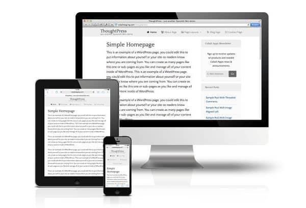 CobaltApps ThoughtPress Skin for Dynamik Website Builder - Gpl Pulse