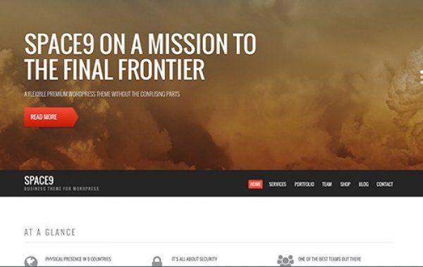 CSS Igniter Space9 WordPress Theme - Gpl Pulse