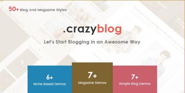 CrazyBlog – Start A Blog or Magazine for Adsense - Gpl Pulse