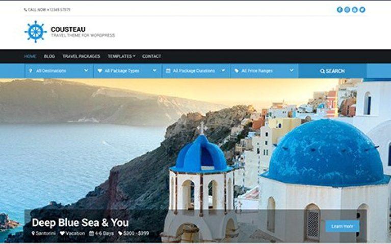 CSS Igniter Cousteau WordPress Theme - Gpl Pulse