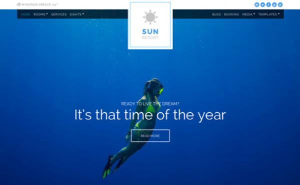 CSS Igniter Sun Resort WordPress Theme - Gpl Pulse